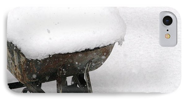 A Wheel Barrel Of Snow IPhone Case
