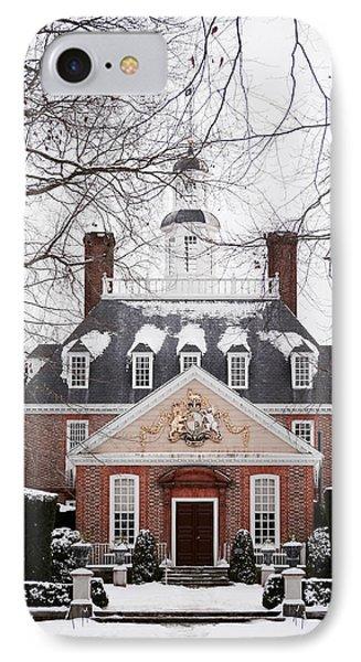 A Williamsburg Winter's Snow IPhone Case