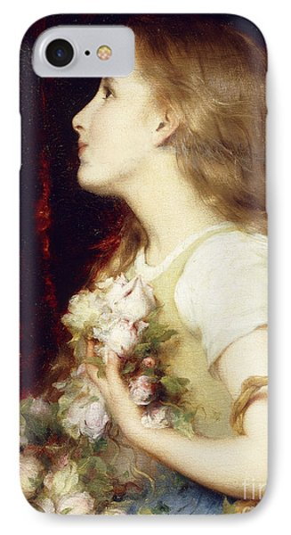 A Young Girl With A Basket Of Flowers IPhone Case