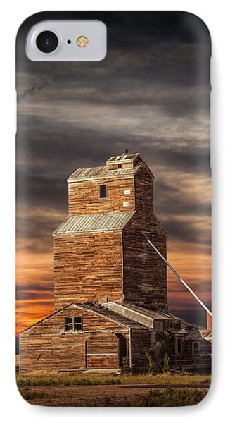 Abandoned Grain Elevator On The Prairie IPhone Case