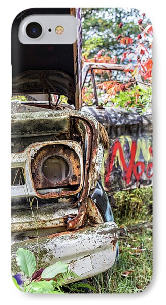 Abandoned Truck With Spray Paint IPhone Case