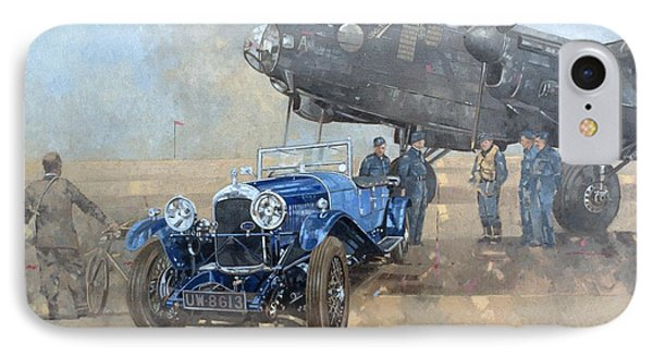 Car iPhone 8 Case - Able Mable And The Blue Lagonda  by Peter Miller
