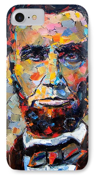 Impressionism iPhone 8 Case - Abraham Lincoln Portrait by Debra Hurd
