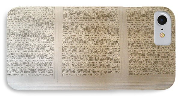 Abraham Lincoln's Second Inaugural Address IPhone Case