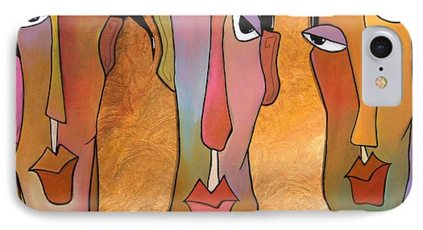 Abstract Art Original Painting - Mad Men IPhone Case