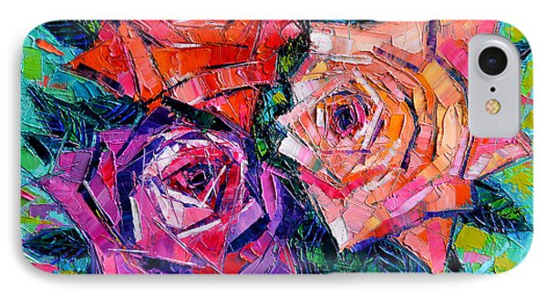 Abstract Bouquet Of Roses IPhone Case