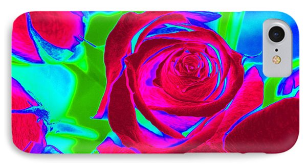 Abstract Burgundy Roses IPhone Case