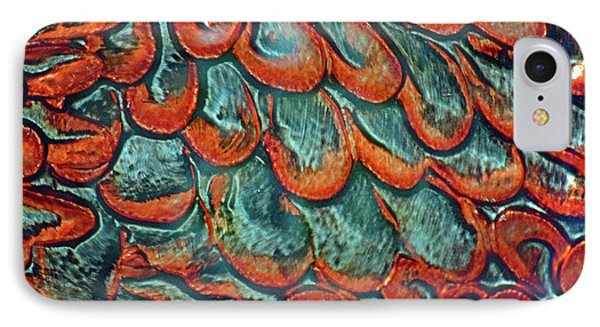 Abstract In Copper And Blue No. 7-1 IPhone Case