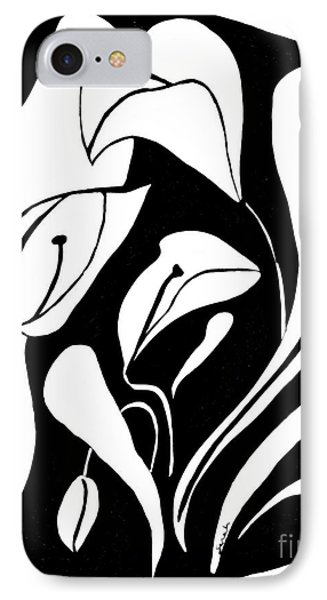 Abstract Lilies IPhone Case