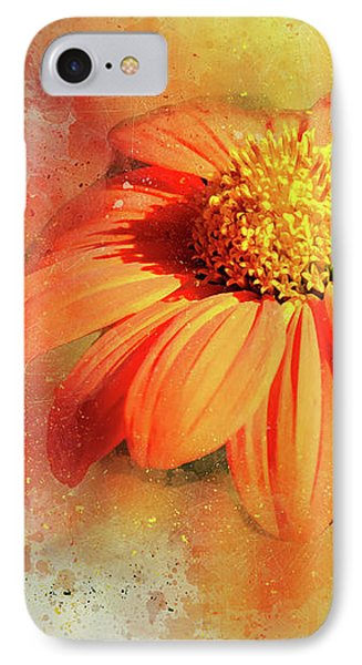 Abstract Orange Flower IPhone Case