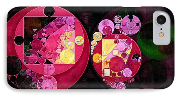 Abstract Painting - Deep Carmine IPhone Case