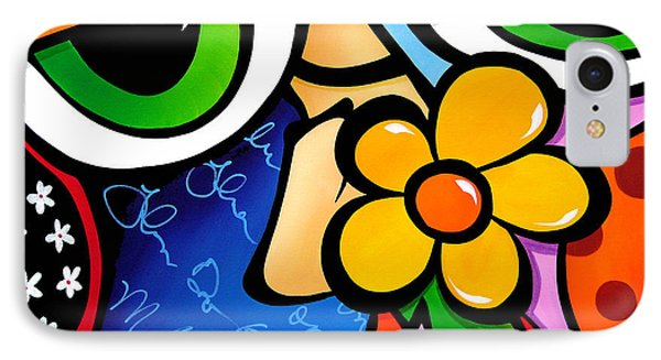 Abstract Pop Art Original Painting Scratch N Sniff By Fidostudio IPhone Case