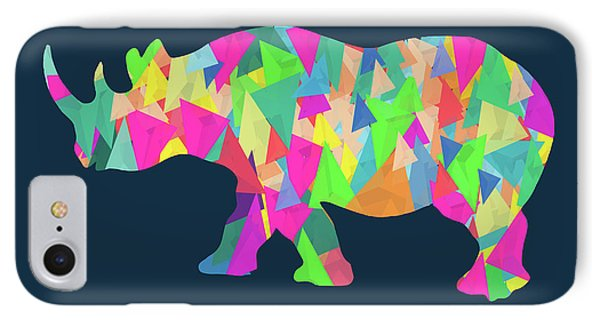 Abstract Rhino IPhone Case