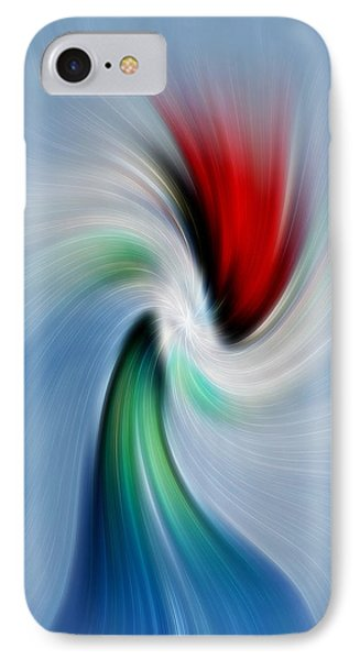 Abstract Rose In A Vase IPhone Case