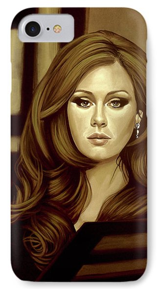 Rhythm And Blues iPhone 8 Case - Adele Gold by Paul Meijering