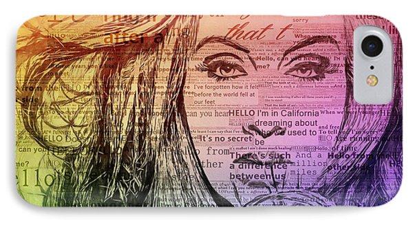 Adele Hello Typography  IPhone Case