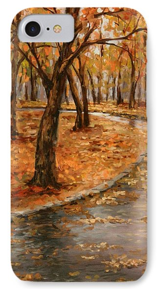 After Rain,walk In The Central Park IPhone Case