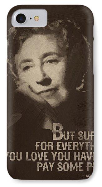 Agatha Christie Quote IPhone Case