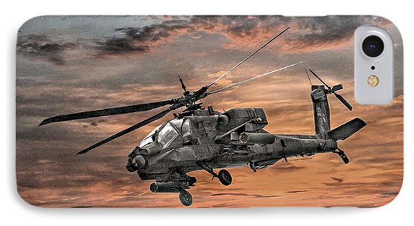 Ah-64 Apache Attack Helicopter IPhone Case