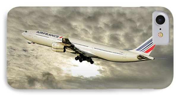 French iPhone 8 Case - Air France Airbus A340-313 115 by Smart Aviation