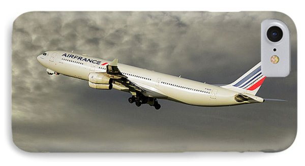 French iPhone 8 Case - Air France Airbus A340-313 116 by Smart Aviation