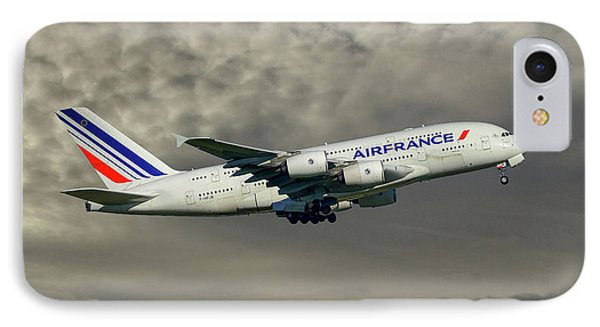 French iPhone 8 Case - Air France Airbus A380-861 116 by Smart Aviation