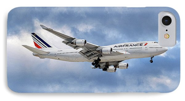 French iPhone 8 Case - Air France Boeing 747-428 118 by Smart Aviation