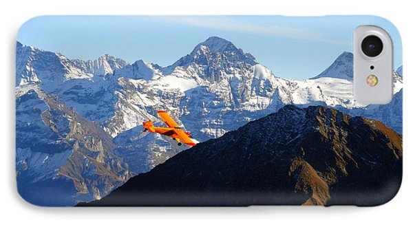 Airplane In Front Of The Alps IPhone Case