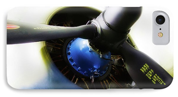 Airplane Military C47a Skytrain Engine Propeller IPhone Case