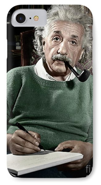 Portraits iPhone 8 Case - Albert Einstein by Granger