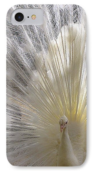 Pure White Peacock IPhone Case