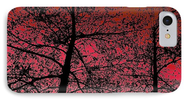 Alder Trees Against The Winter Sunrise IPhone Case