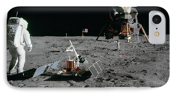 Aldrin Looks Back At Tranquility Base  IPhone Case