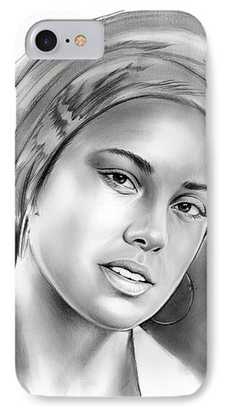 Rhythm And Blues iPhone 8 Case - Alicia Keys by Greg Joens