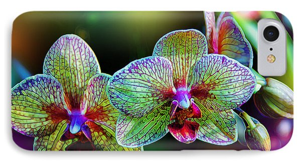 Orchid iPhone 8 Case - Alien Orchids by Bill Tiepelman