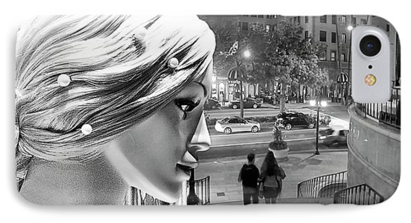 IPhone Case featuring the photograph All Dressed Up And No Place To Go - B W by Chuck Staley