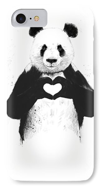iPhone 8 Case - All You Need Is Love by Balazs Solti