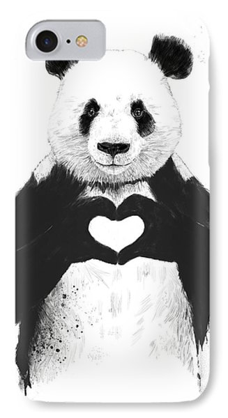 White iPhone 8 Case - All You Need Is Love by Balazs Solti