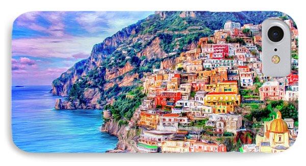 Amalfi Coast At Positano IPhone Case