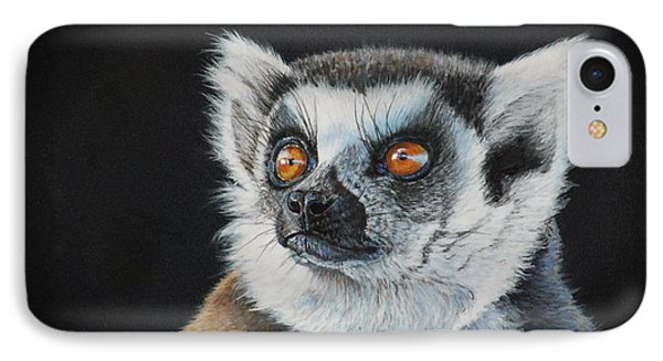Amber Eyes......lemur IPhone Case