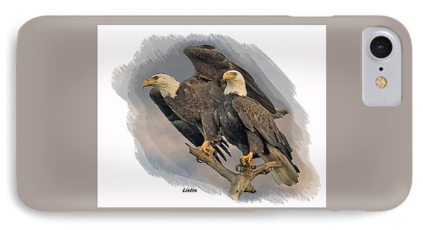 American Bald Eagle Pair IPhone Case