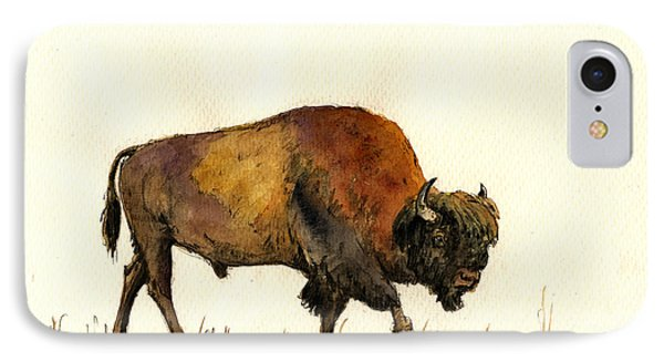 American Buffalo Watercolor IPhone Case