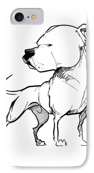 American Bulldog Gesture Sketch IPhone Case