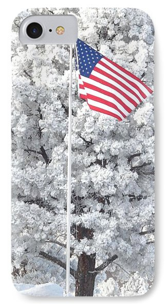 American Flag Snow  IPhone Case