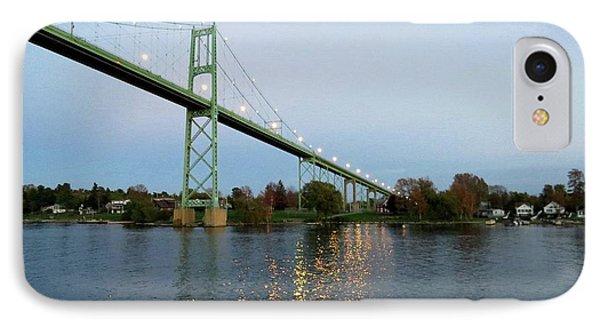 American Span Thousand Islands Bridge IPhone Case