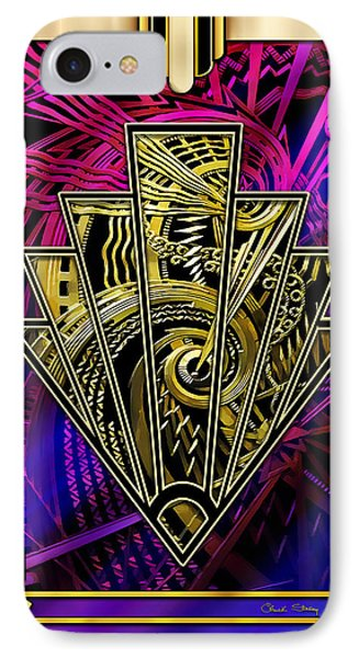 IPhone Case featuring the digital art Amethyst And Gold by Chuck Staley