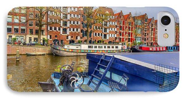 Amsterdam Houseboats IPhone Case
