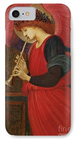 Trumpet iPhone 8 Case - An Angel Playing A Flageolet by Sir Edward Burne-Jones