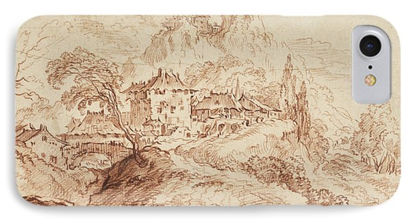 An Italian Village In A Mountainous Landscape IPhone Case