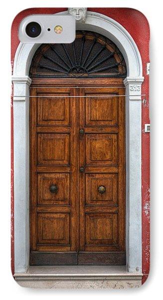 an old wooden door in Italy IPhone Case